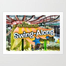 Backyardigans Swing-A-Long Art Print