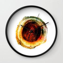 Burnished Earthen Geode Wall Clock