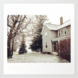 Winter Wonderland in Michigan Art Print