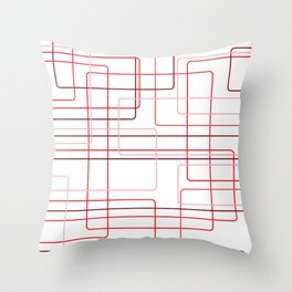 Red Cube Pattern Throw Pillow