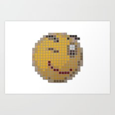 Emoticon Wink Art Print