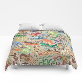 Mini Dragon Compendium Comforters