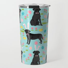 Black Lab labrador retriever dog breed pet art easter pattern costume spring Travel Mug