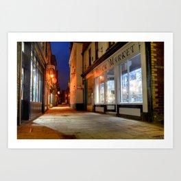 Sandgate, Whitby at Night Art Print
