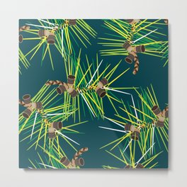 Perennial Needles Metal Print