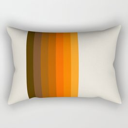 Retro Golden Rainbow - Straight Rectangular Pillow