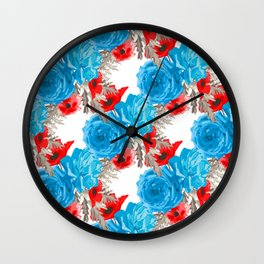 Poppy and Rose Wall Clock
