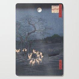 Utagawa Hiroshige - New Year's Eve Foxfires at the Changing Tree Cutting Board
