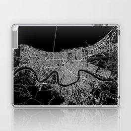 New Orleans Black Map Laptop & iPad Skin