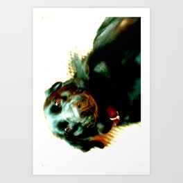 Good dog, yes you are 2 Art Print