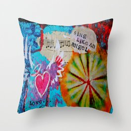 Sing Like an Angel Throw Pillow