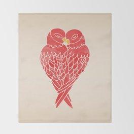 Love Birds (Red) Throw Blanket