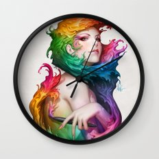 Angel of Colors Wall Clock