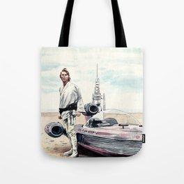 Luke Skywalker on Tatooine Tote Bag