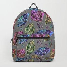 Geometric Rainbow Space Gems - Watercolor Backpack