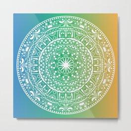 Montezuma - Mandala Metal Print