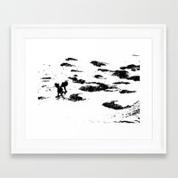 child Framed Art Prints featuring Child by Cat In The Sorting Hat