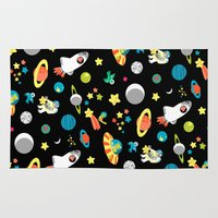 tom selleck Area & Throw Rugs featuring major tom by marella