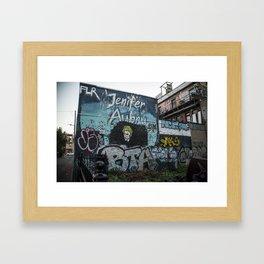 Blue Street Art Framed Art Print