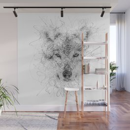 WolF Line Wall Mural