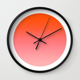 Papaya Round Wall Clock