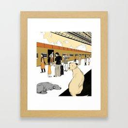 Train Dogs Framed Art Print