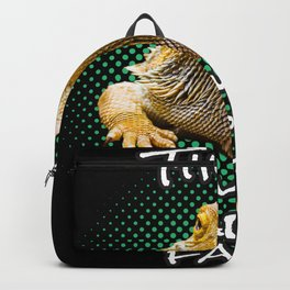 This Is My Happy Face Bearded Dragon Funny Reptile T-shirt Backpack