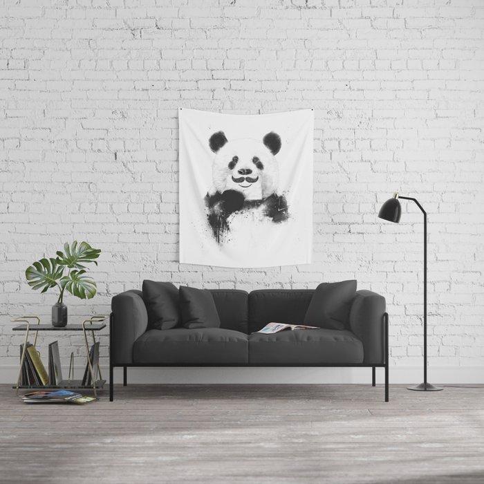 Funny panda Wall Tapestry