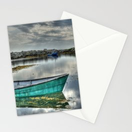 Blue Rocks Green Boat Stationery Cards