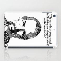 Steve Jobs crazy enough quote iPad Case
