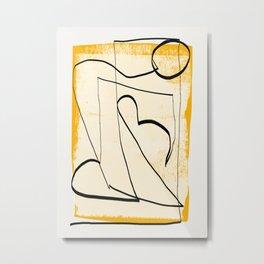 Abstract line art 4 Metal Print