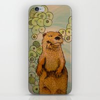 otter iPhone & iPod Skins featuring Otter by AlexandraDesCotes