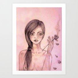 Bocca di Rosa Art Print