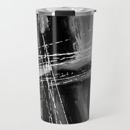 abstract black white Travel Mug