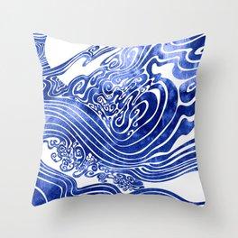 Churn The Deep Throw Pillow