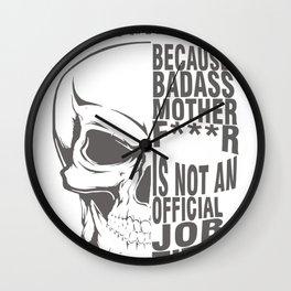 CNC Machinist is not an official job title Wall Clock