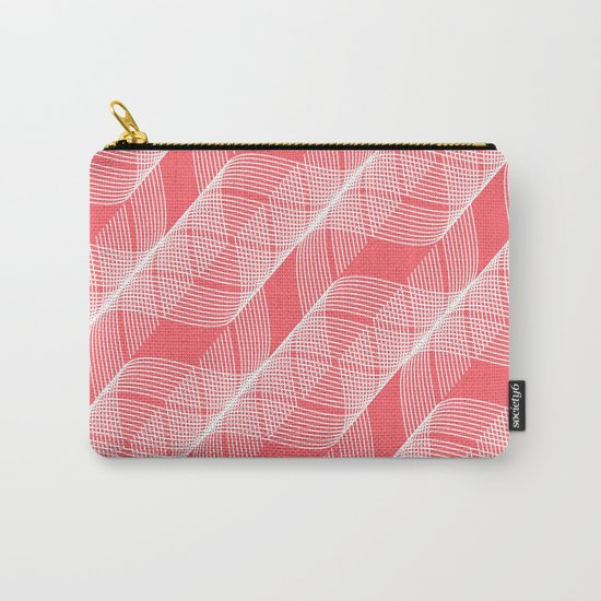 Coral Red Helix Carry-All Pouch