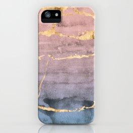 Watercolor Gradient Gold Foil iPhone Case