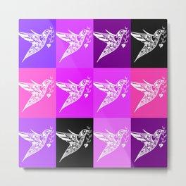 PInk ad purple prints with a love theme Metal Print