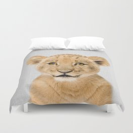 Baby Lion - Colorful Duvet Cover