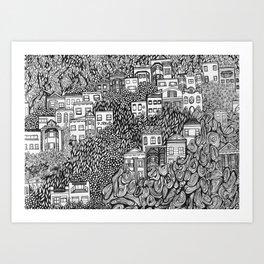 Nob Hill Art Print