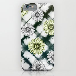 Green Daisies Smile iPhone Case
