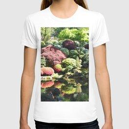 Photos USA Portland Japanese Garden Nature Pond Gardens Trees Shrubs Bush T-shirt