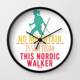 Nordic Walking removing Hiking Sports Wall Clock