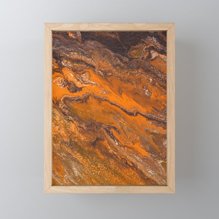 Amber Fire Framed Mini Art Print