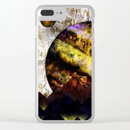 The mountains and the planet Clear iPhone Case