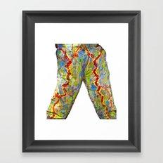 Power Pants Framed Art Print