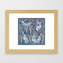 Easter Jackrabbit Blues Framed Art Print