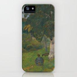 "Paul Gauguin - Coming and going, Martinique ""Allés et Venues, Martinique"" (1887) iPhone Case"
