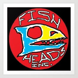 Fish heads Inc. Art Print